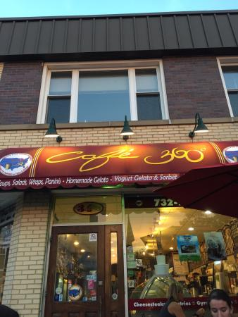 Cafe 360: We were in freehold so we had to stop for gelato. Staff was friendly and quick. Gelato is very g