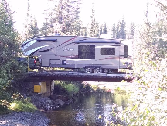 Tolsona Wilderness Campground: Don't worry about the bridge