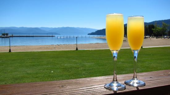 Sandpoint, ID: Sunday brunch on the deck