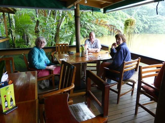 Colo I Suva Rainforest Eco Resort: Verandah dining area