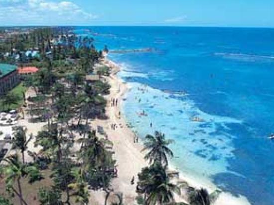 Playa Guayacanes Aerial View Of Juan Dolio Beaches Nearby Santo Domingo