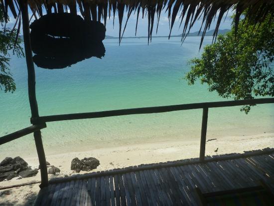 Rang Yai Island: Uitzicht vanuit onze strand hut