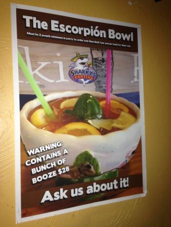 Sharky's Cantina : Watch the scorpion bowls!! :)