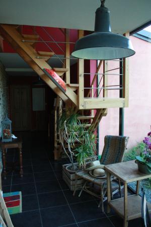 Auberge du Bracmar : Petit salon donnant sur le verger