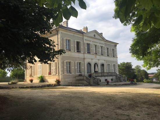 Cher, فرنسا: Chateau de Preuil, Orchid Room and view from Orchid Room