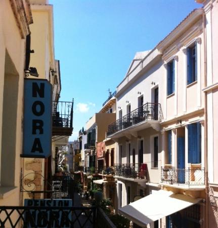 Pension Nora: vista dal terrazzino sulla città vecchia