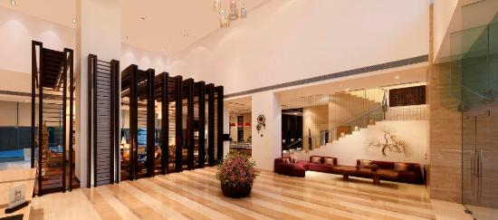 Hilton Garden Inn Gurgaon Baani Square India: The lobby of Hilton Garden Inn Gurgaon Baani Square is bright and welcoming. In addition to a ra