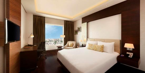 Hilton Garden Inn Gurgaon Baani Square India: Our King Bed Guest Rooms offer an expansive city views and are equipped with all the modern amen