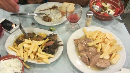 Simos: mastelo (left) lemony beef (right)