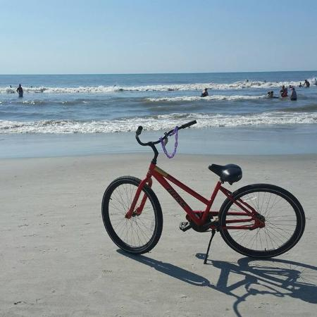 Spinnaker at Shipyard: My Spinnaker bike at the beach (a short walk away)
