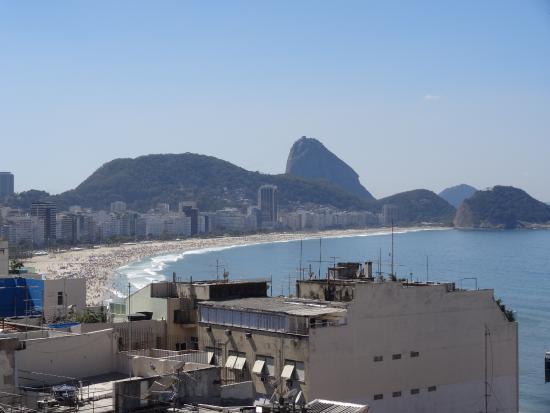 Copacabana Rio Hotel : Vista de día de Copacabana desde el balcón