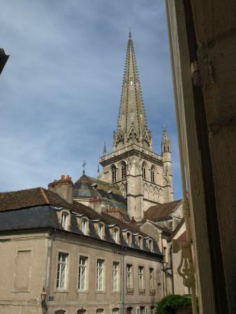 Maison Sainte Barbe: Vista della cattedrale dalla sala della colazione