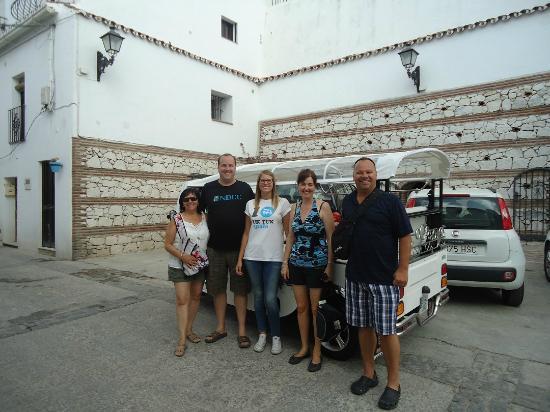 Tuk Tuk Spain: Don Johnston and family - near the caves