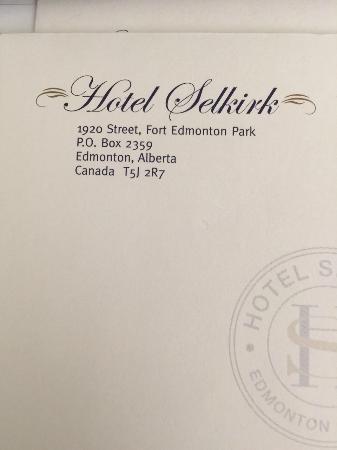 Hotel Selkirk: Questo è l'indirizzo corretto!