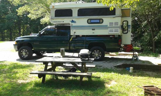 Deep Valley Campground: Deep Valley, My stay in the Solar Camper.