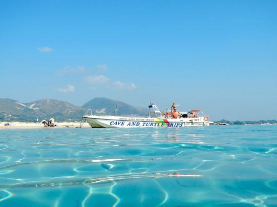 Vasilikos, Greece: Boat at Marathonisi, Turtle Island