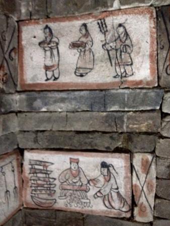 Wei-Jin Tombs : Dentro la tomba