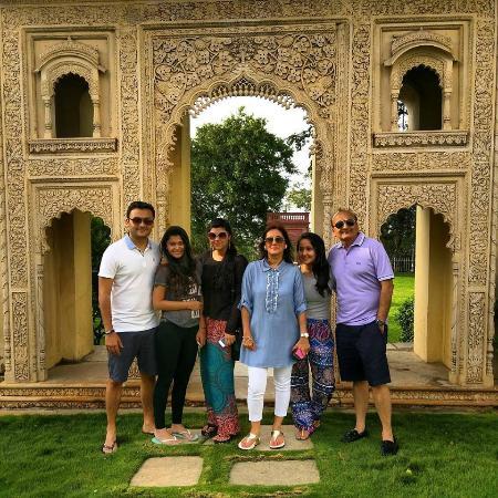 A family photo at the lawns of Taj Falaknuma Palace! - Taj ...