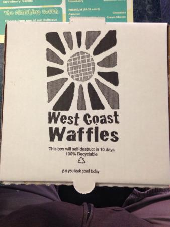 West Coast Waffles: Waffles to go? Sweet...