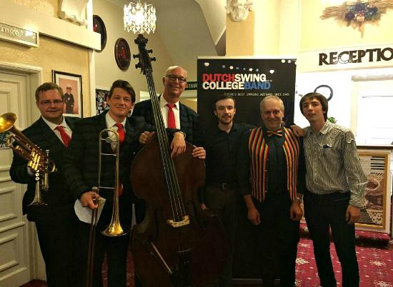 The Talbot Hotel: Us with the Dutch Swing College Band