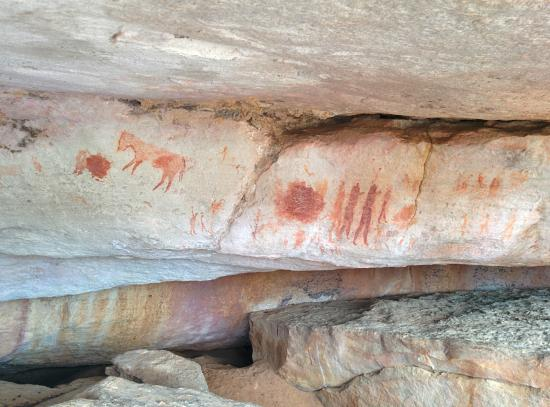 Clanwilliam, Zuid-Afrika: Art rock paintings