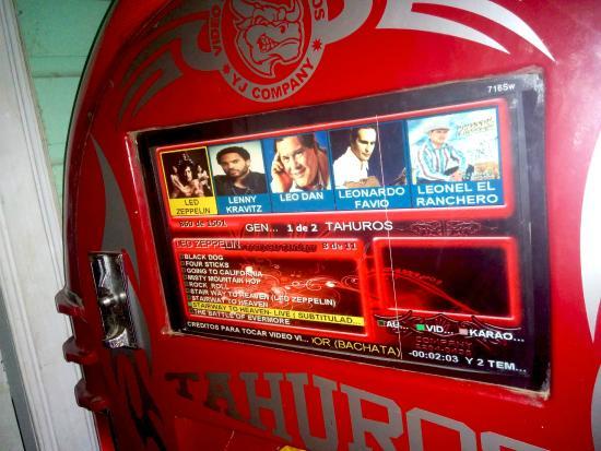 Digital Jukebox in Casa del Mar bar