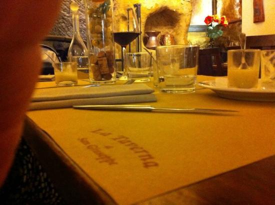 La Taverna di San Giuseppe: il nostro tavolo