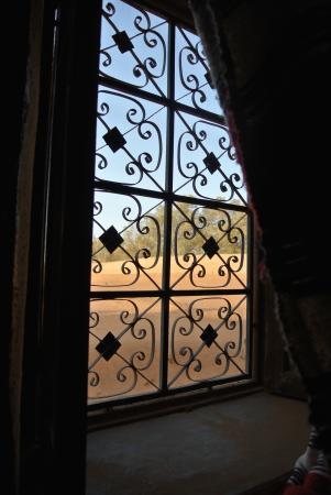 Auberge Les Pyramides: vista dalla camera