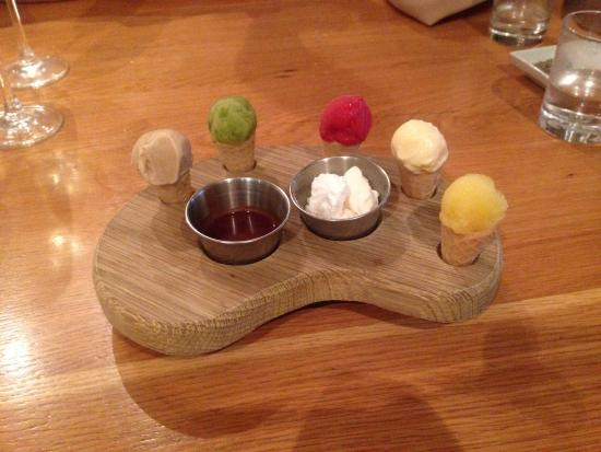 81 Beach Street: Ice cream platter