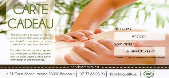Carte Cadeau Picture Of Bioethnique Bordeaux Tripadvisor