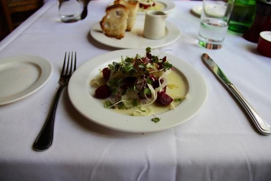 Serratto: Beet, Shaved Fennel, Orange, Chevre Salad