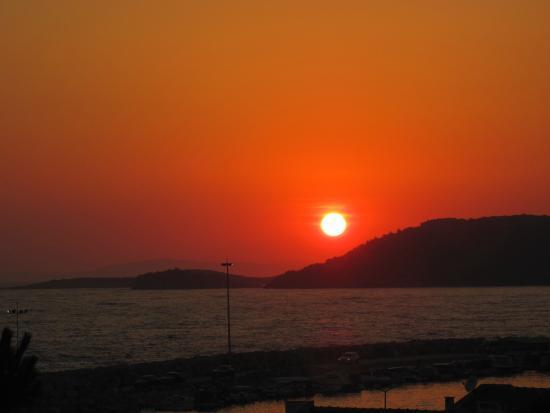 Grand Efe Hotel: tramonto