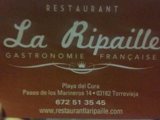 La Ripaille: Best food in Torrevieja
