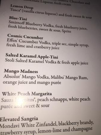 Top Of The World Tail Menu