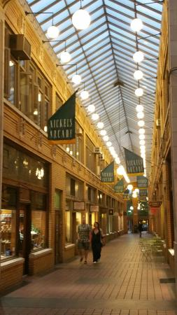 Comet Coffee: The coffee shop is located in this arcade which is awesome on rainy or chilly day.