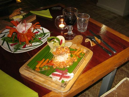 Celeste Mountain Lodge: Delicious dishes, included in the rates