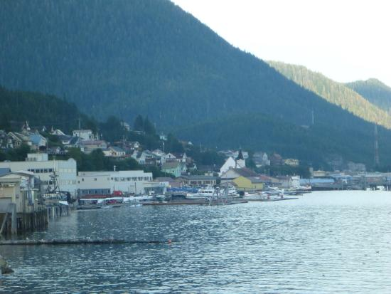 Super 8 Ketchikan: View from our room toward downtowntown