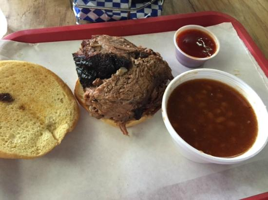 Sweet Gregory P's Smokehouse Grill: Chopped BBQ Sandwich