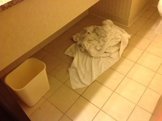 Quality Inn Northtown: Bathroom towels not taken