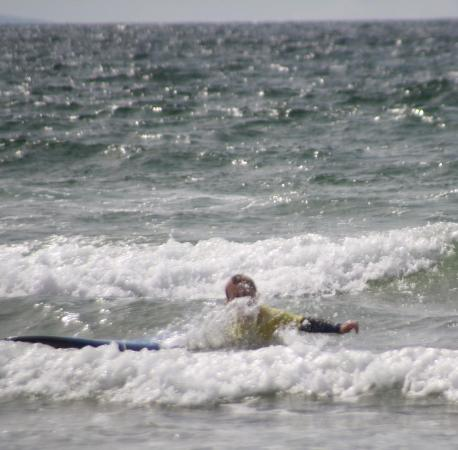Blackfield Surf School: What goes up..... will land in the waves