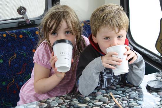 Blackfield Surf School: Hot chocs on the bus