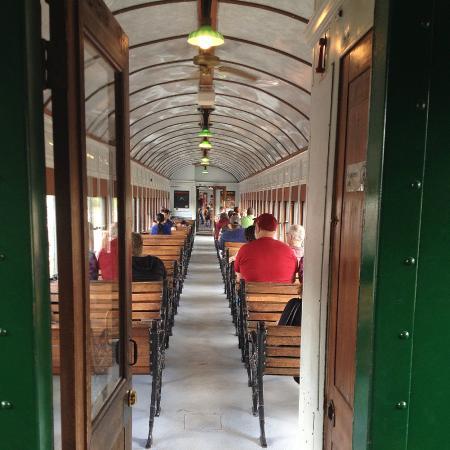 Mt. Rainier Scenic Railroad: Interior of the 1920's era passenger car