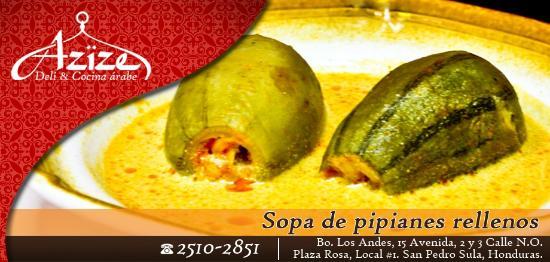 Pipián Relleno Picture Of Azize Deli Cocina Arabe San Pedro