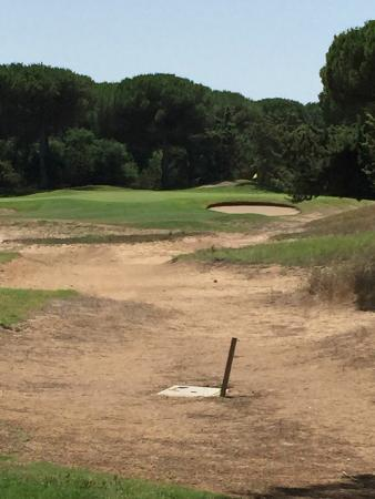 Narbolia, Italia: Hole 18 par 3 ... its all sand !