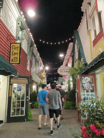 Rehoboth Beach Boardwalk: Penny Lane Mall - one of the cute picturesque streets