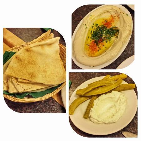 The Prophet : Hommus, flat breadand gherkins with cream cheese