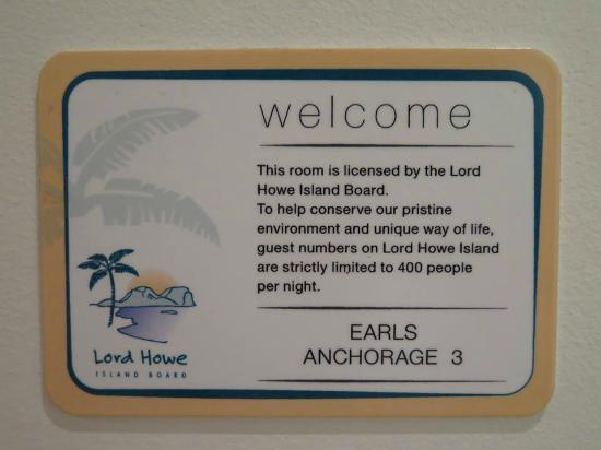 Earl's Anchorage: Signage in my apartment