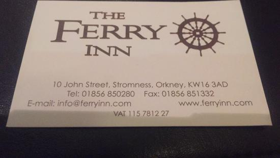 Ferry Inn Stromness: Yummy food very speedily done for our stop on the bus trip.