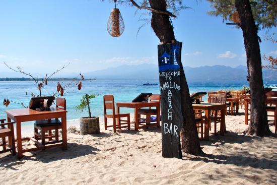 bar ristorante picture of mallias bungalows gili meno tripadvisor rh tripadvisor ie