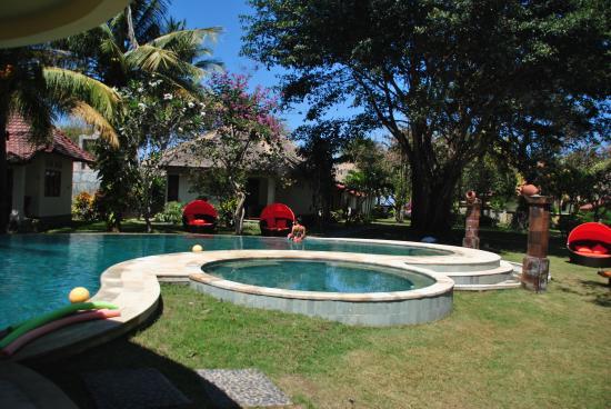 Giardino con piscina foto di puri rinjani bungalows - Giardino con piscina ...